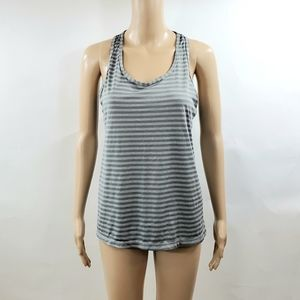 Danskin Semi Fitted Tank Top Size Large Gray